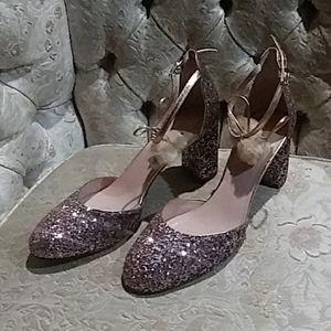 EUC Kate Spade Pink Glitter Heels